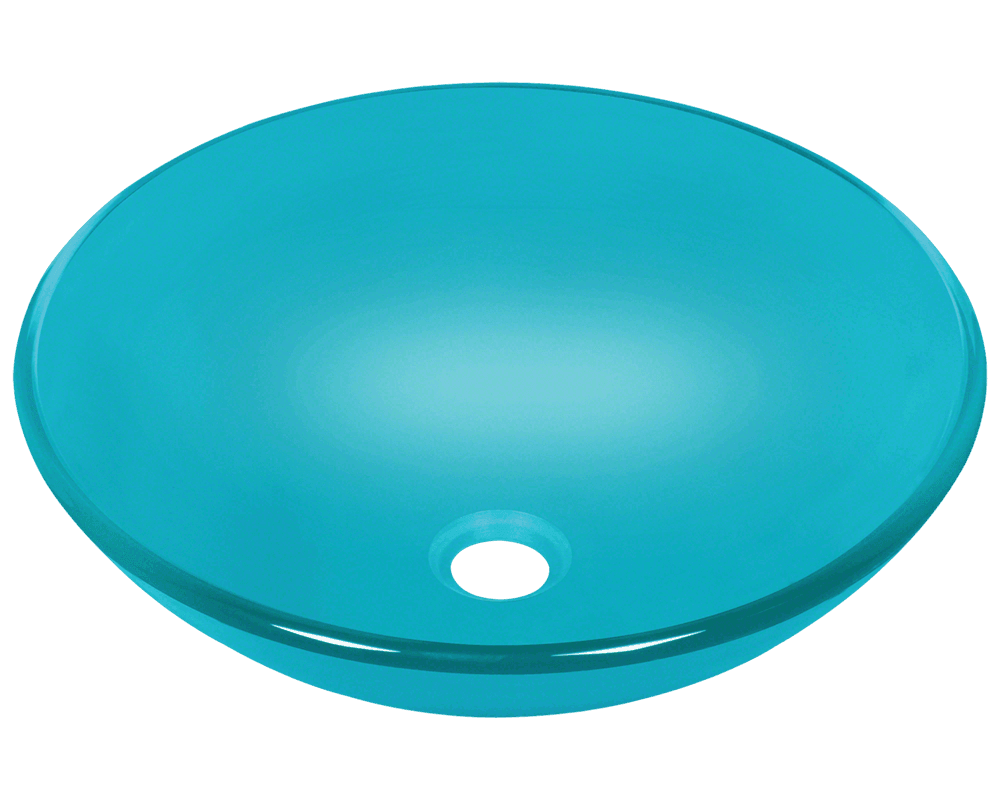 601 turquoise glass vessel sink for Bathroom ideas vessel sink