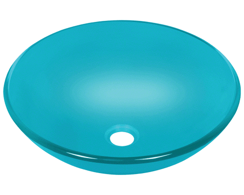 MR Direct 601-Turquoise 601-Turquoise Colored Glass Vessel Sink