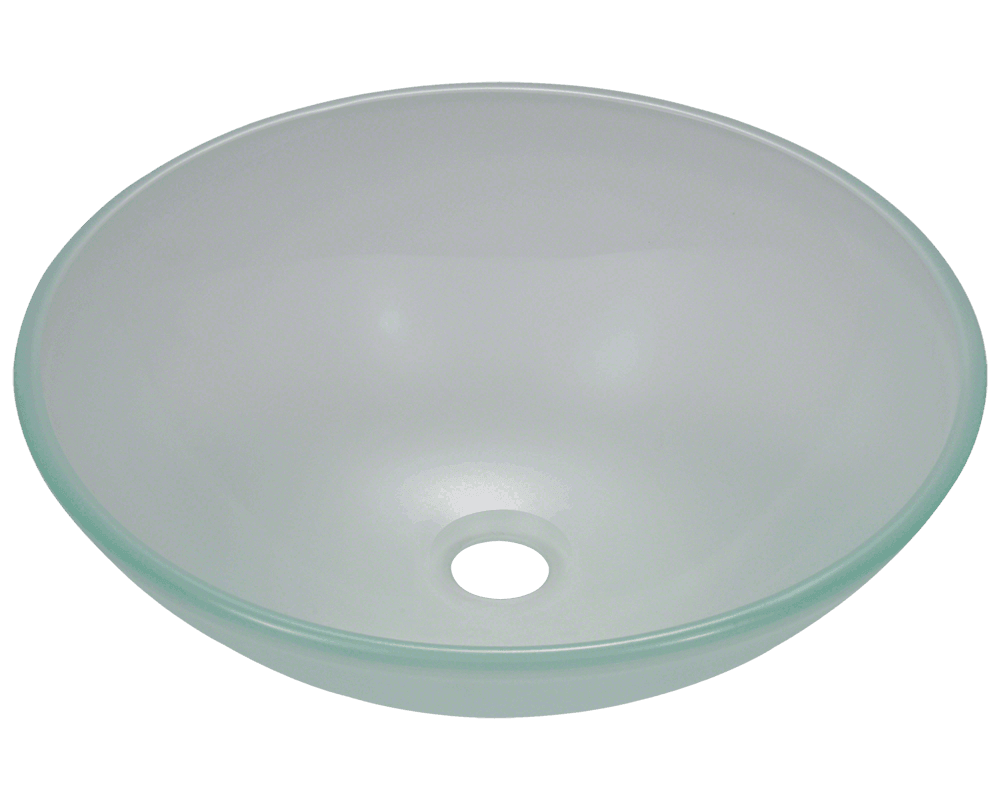 MR Direct 602 Frosted Glass Vessel Sink