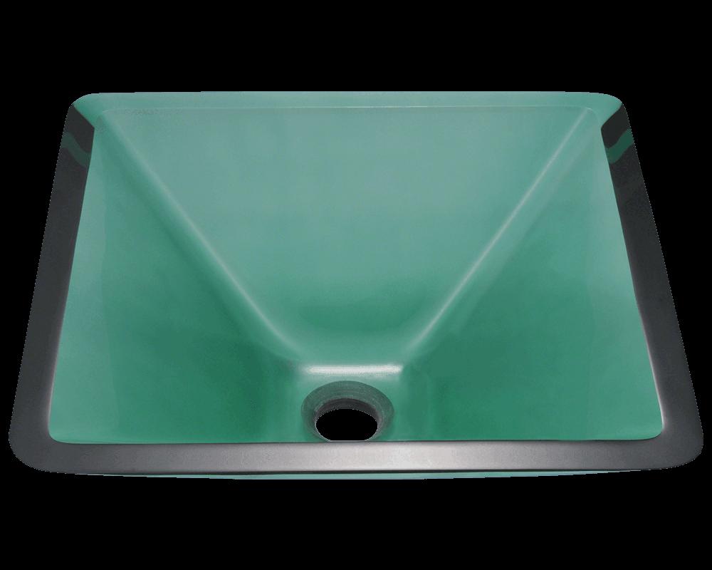 603 Emerald Colored Glass Vessel Sink
