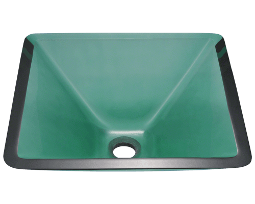 603-Emerald Colored Glass Vessel Sink