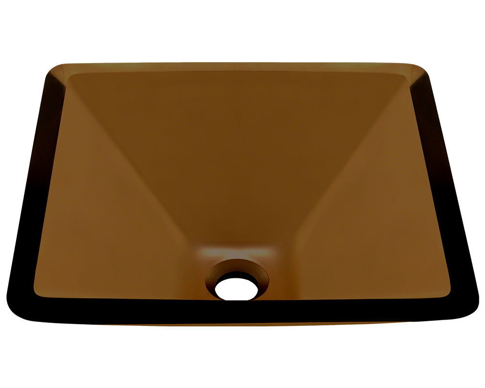 MR Direct 603-Taupe Colored Glass Vessel Sink
