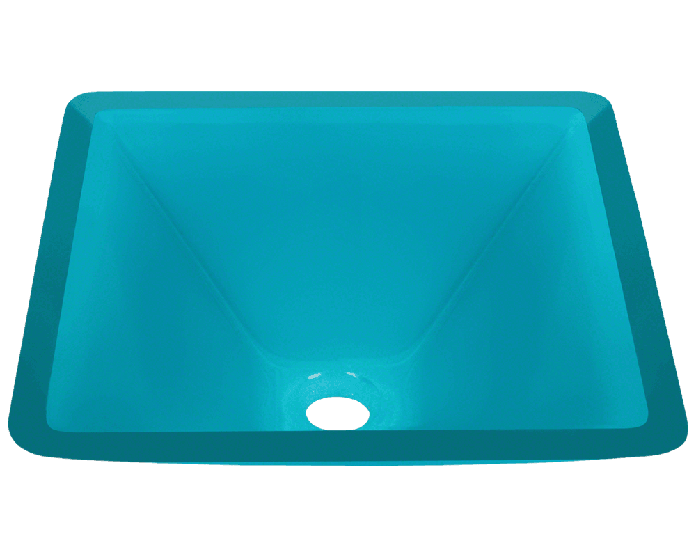 MR Direct 603-Turquoise Colored Glass Vessel Sink