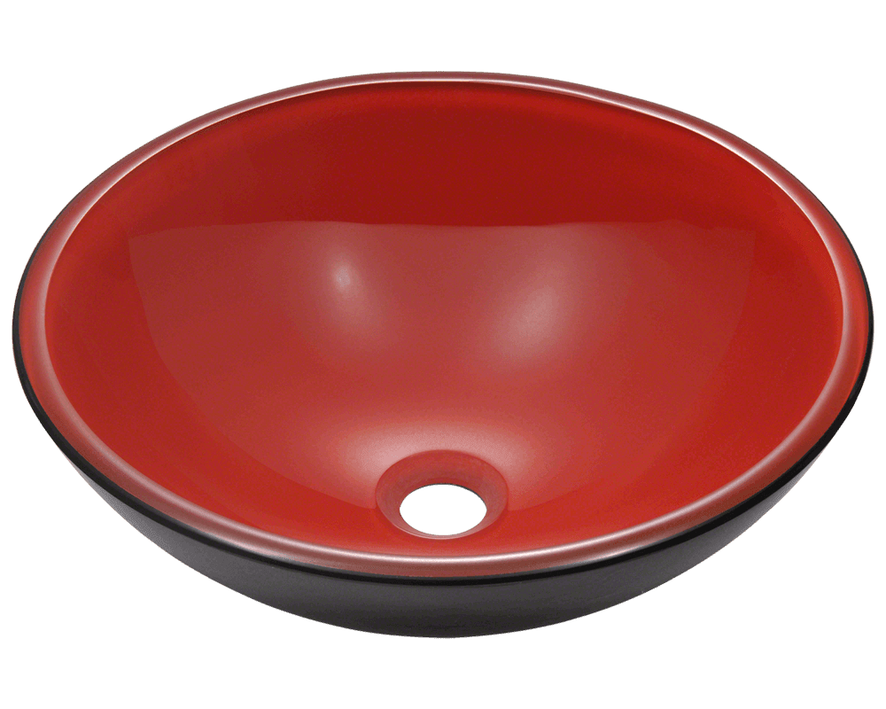 606 Double Layer Glass Vessel Sink
