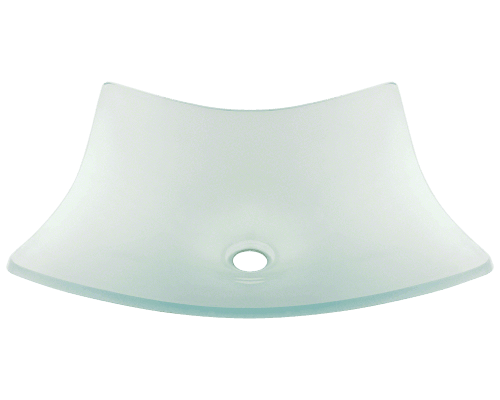 622 Frosted Glass Vessel Bathroom Sink