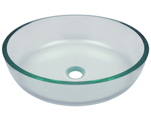625 Clear Glass Vessel Bathroom Sink