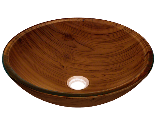Bathroom Sink 500 X 400 628 wood grain glass vessel bathroom sink