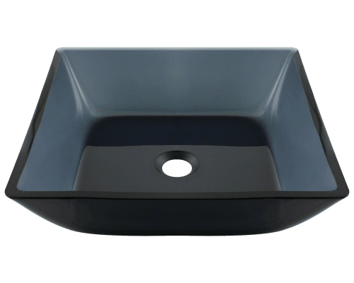 Bathroom Sink 500 X 400 630 square black glass vessel bathroom sink