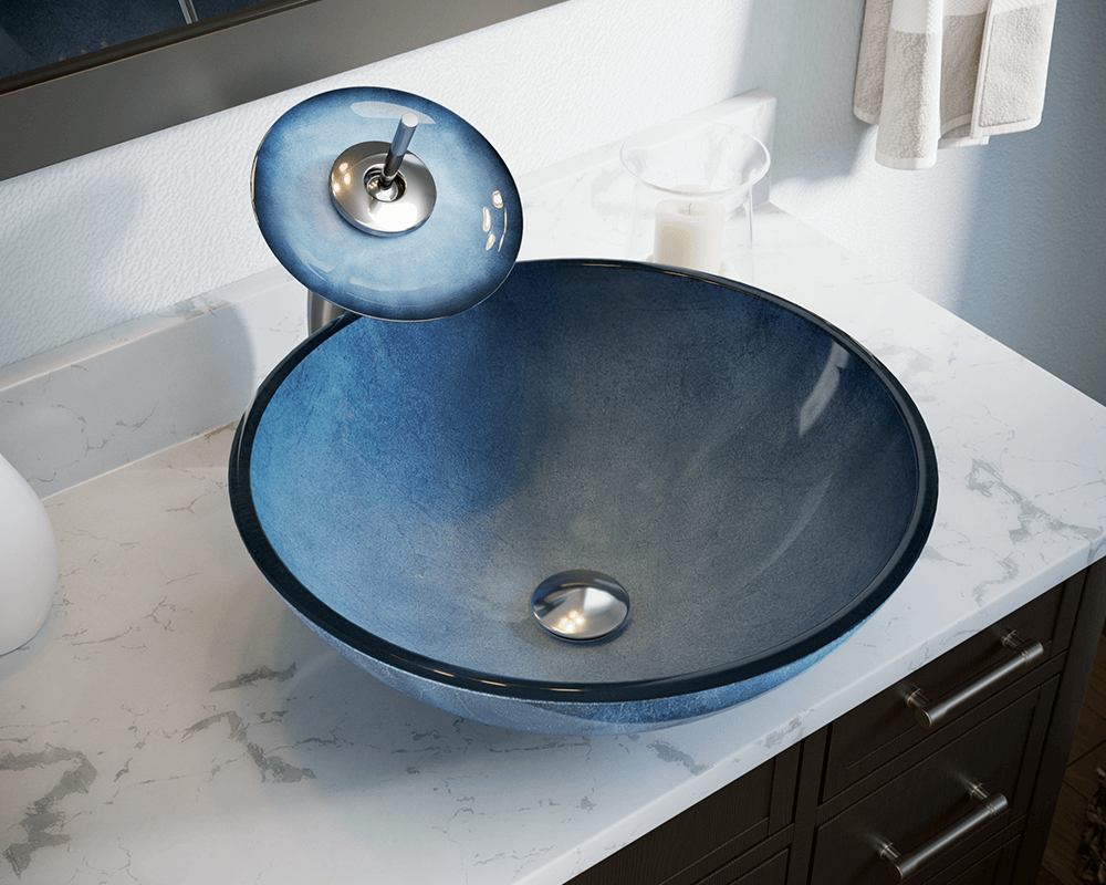 633 Hand-Painted Glass Vessel Sink