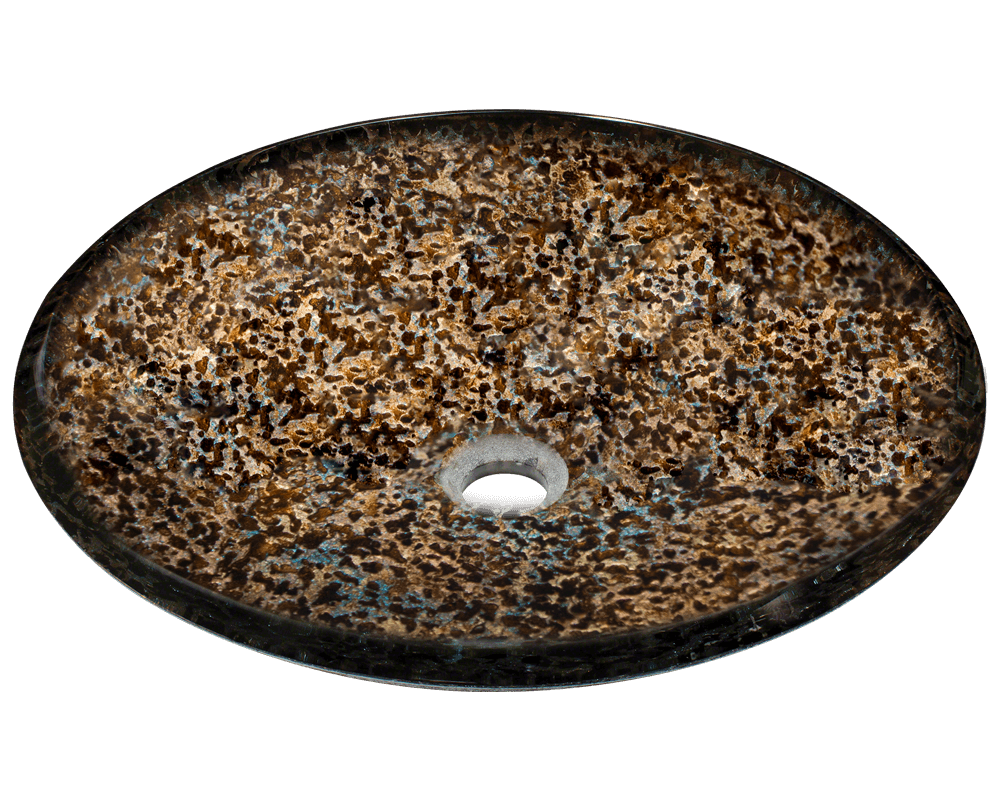 634 handpainted foil undertone glass vessel sink