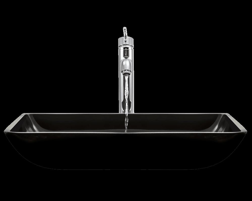 640 Black Glass Vessel Sink