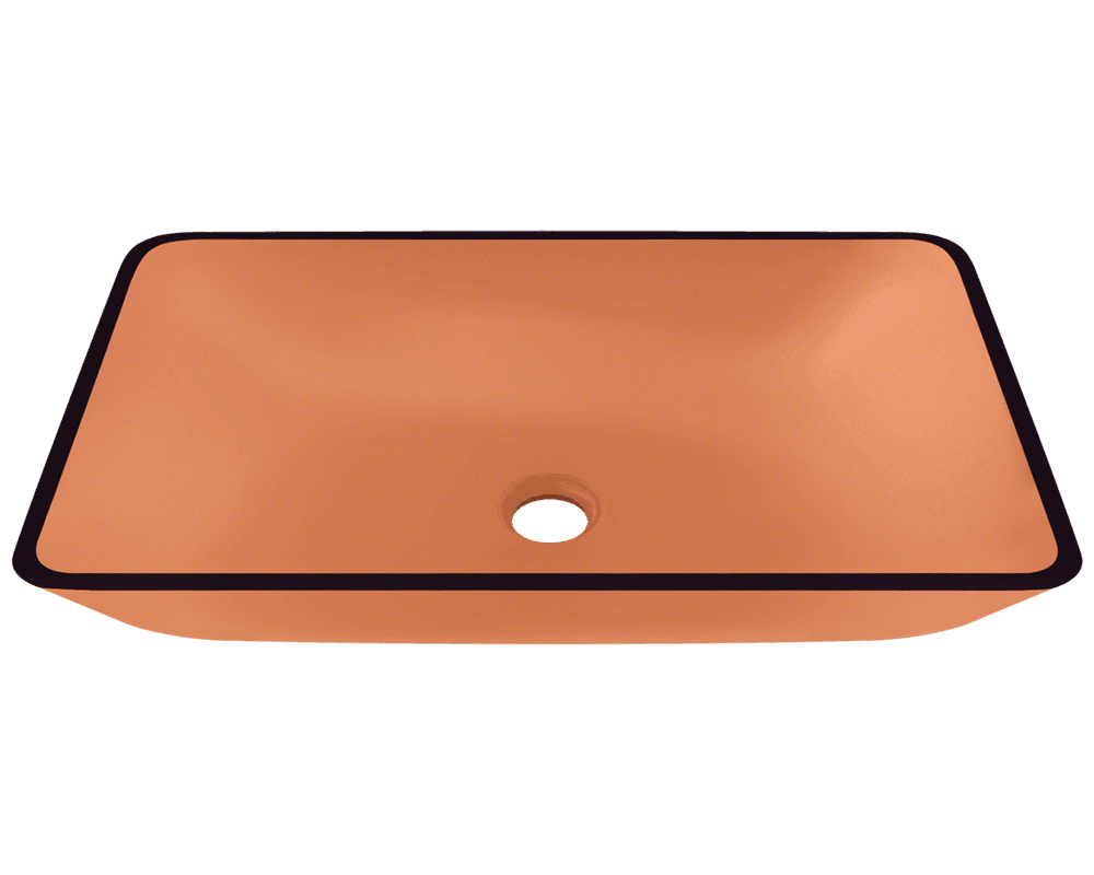 MR Direct 640-Coral Colored Glass Vessel Bathroom Sink