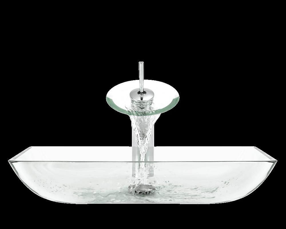 640 Crystal Glass Vessel Sink