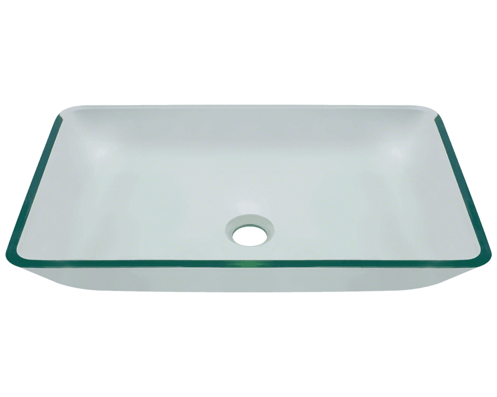 Kitchens and bathrooms direct - 640 Crystal Glass Vessel Bathroom Sink