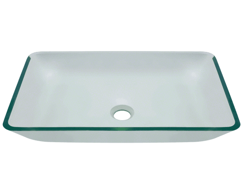 640-Crystal Glass Vessel Bathroom Sink