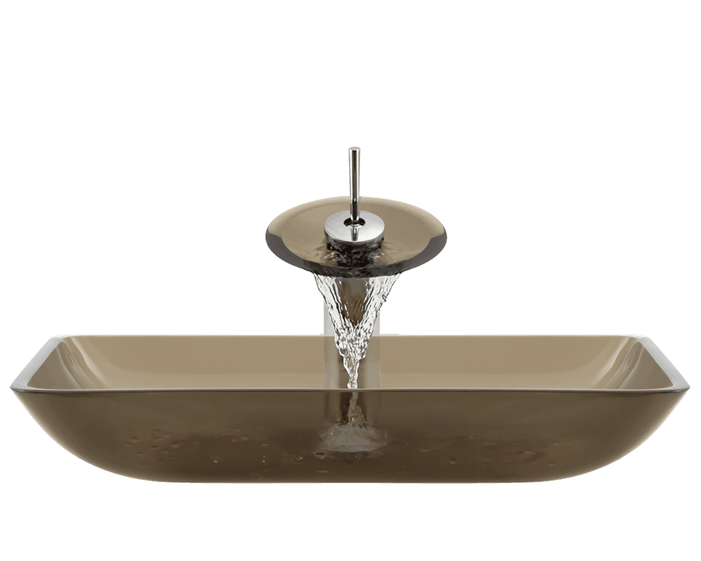 640 Taupe Glass Vessel Sink
