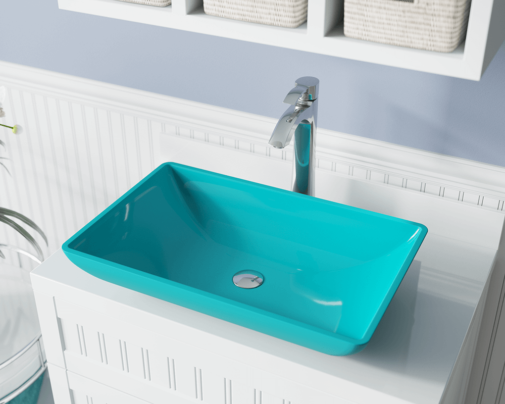 640 turquoise glass vessel sink 12375