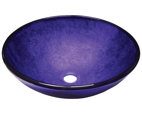 642 foil undertone glass vessel sink for Purple glass bathtub