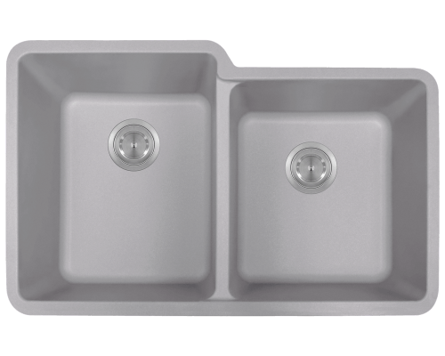 801-Silver Double Offset Bowl TruGranite Sink