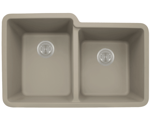 801-Slate Double Offset Bowl TruGranite Sink