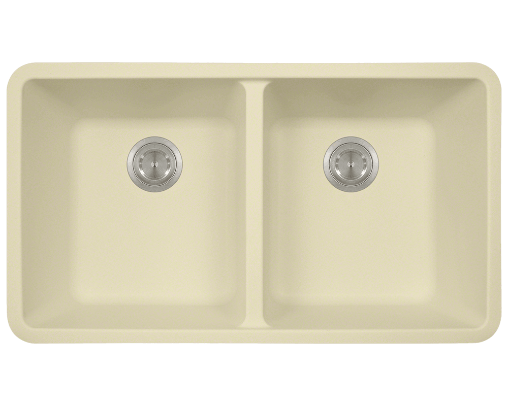802 beige double equal bowl trugranite kitchen sink  rh   mrdirectint com