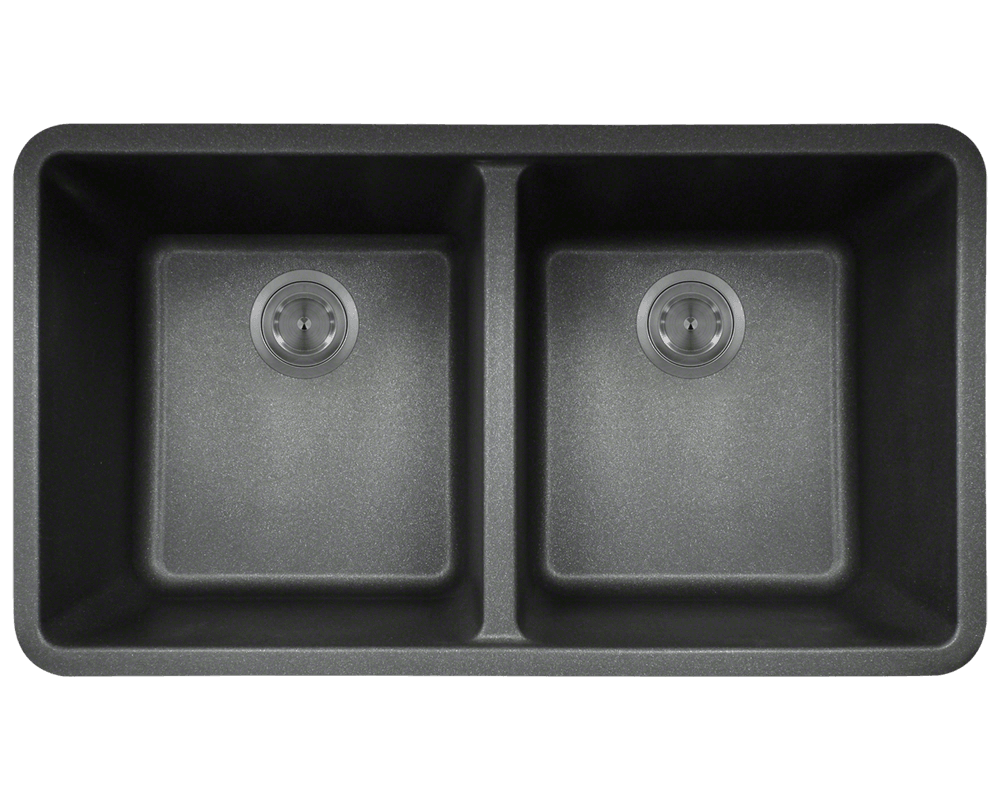 802-Black Double Equal Bowl TruGranite Kitchen Sink for Kitchen Sink Top View Png  111ane