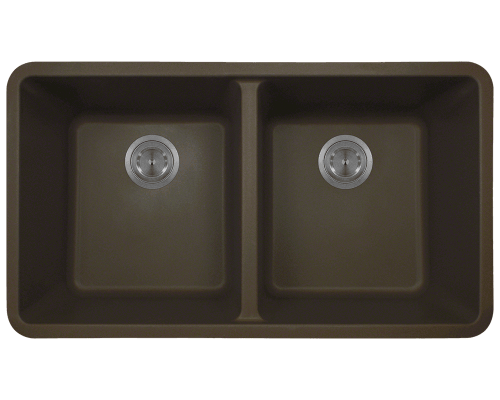 802-Mocha Double Equal Bowl TruGranite Kitchen Sink