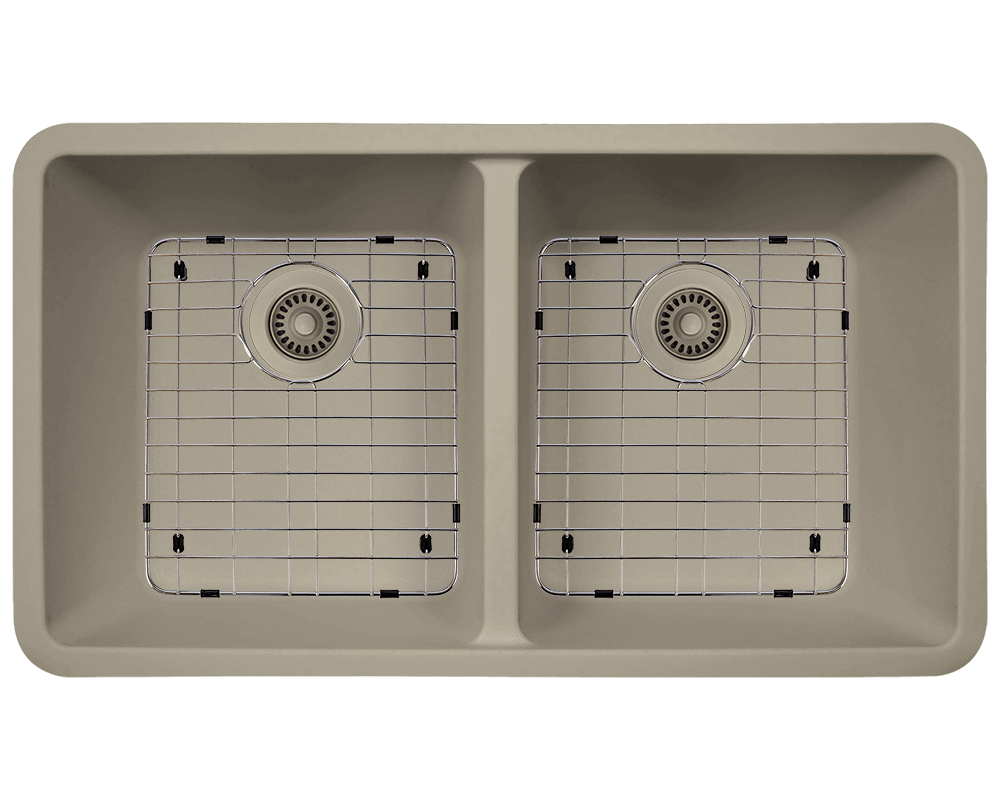 802-Slate Alt Image: 80% Quartz 20% Acrylic Undermount Rectangle Slate Kitchen Sink