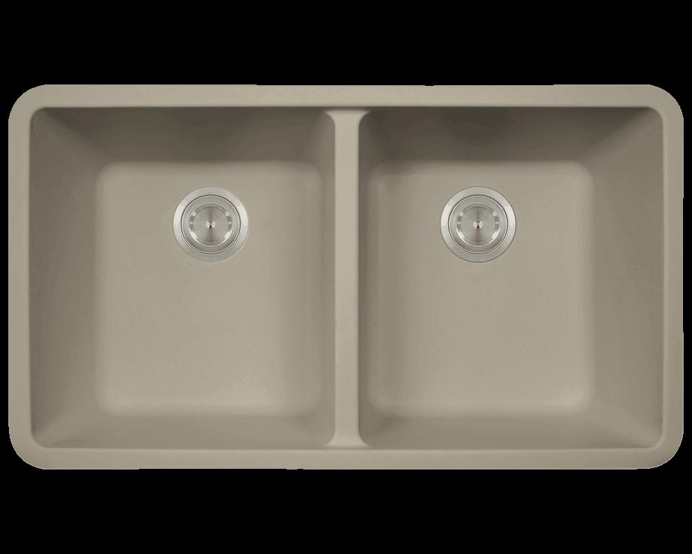 802 Slate Double Equal Bowl Trugranite Kitchen Sink