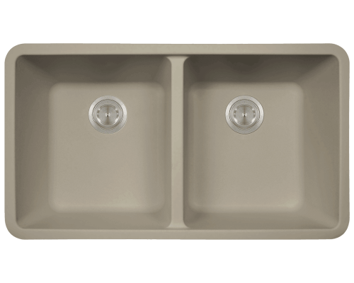 MR Direct 802-Slate 802-Slate Double Equal Bowl Quartz Granite Kitchen Sink