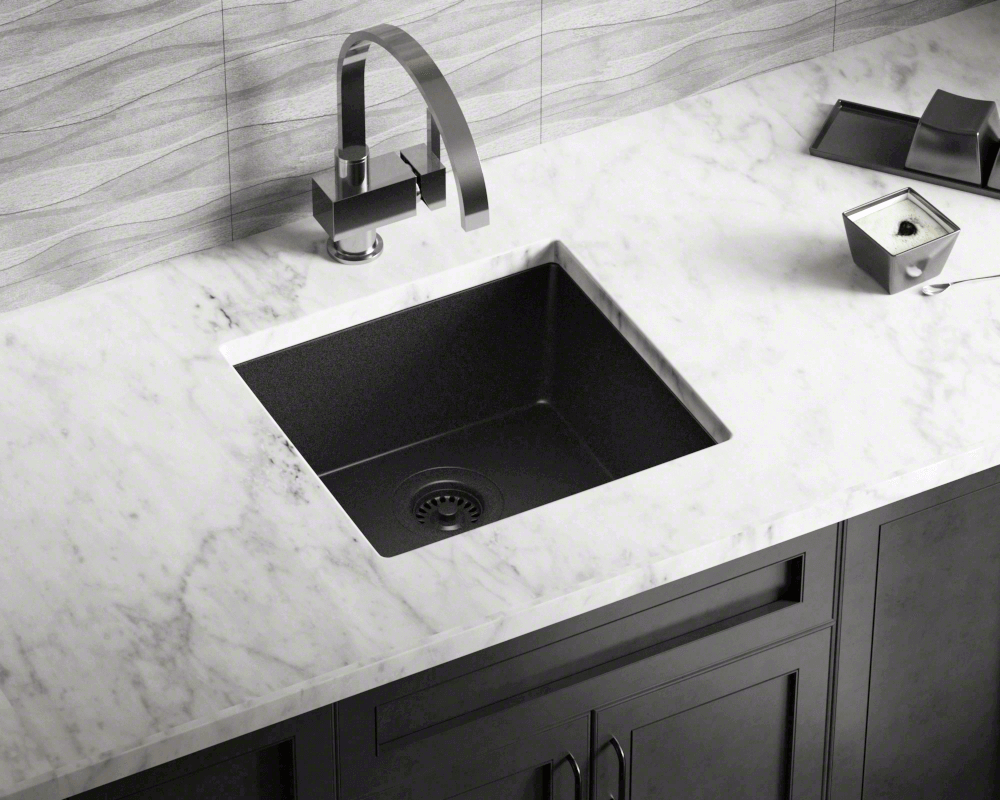 805 Black Single Bowl Trugranite Sink