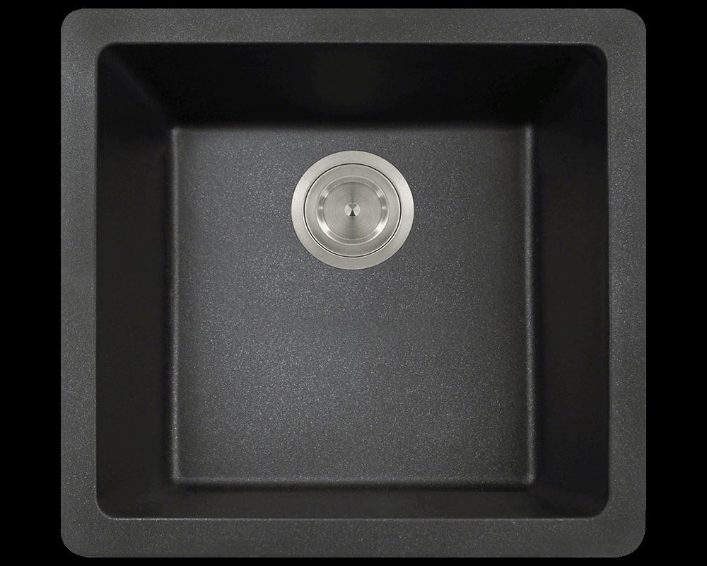 805 Black Single Bowl Trugranite Sink
