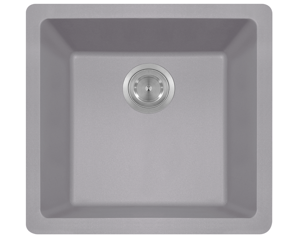 MR Direct 805-Silver Single Bowl Quartz Granite Sink