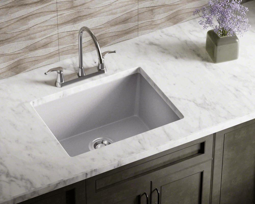 808-Silver Single Bowl TruGranite Sink