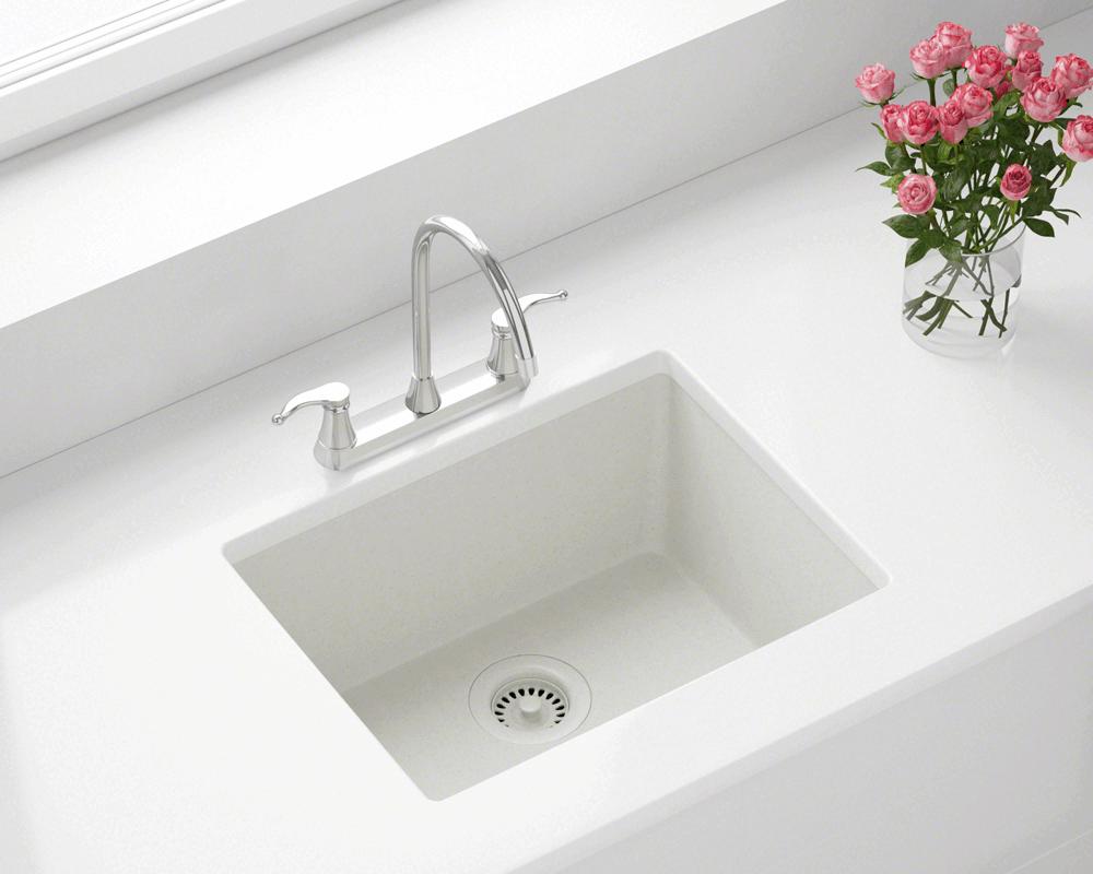 808 White Single Bowl Trugranite Sink