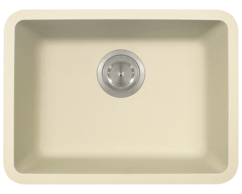 818-Beige Small Single Bowl TruGranite Sink