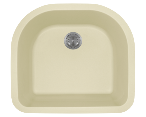 824-Beige D-Bowl Trugranite Sink