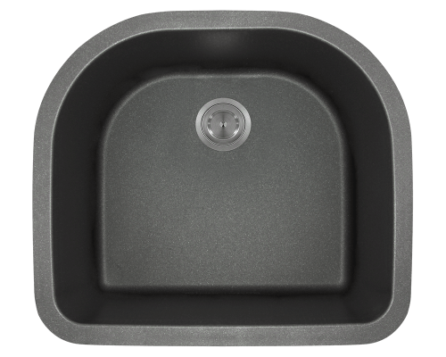 824-Black D-Bowl Trugranite Sink