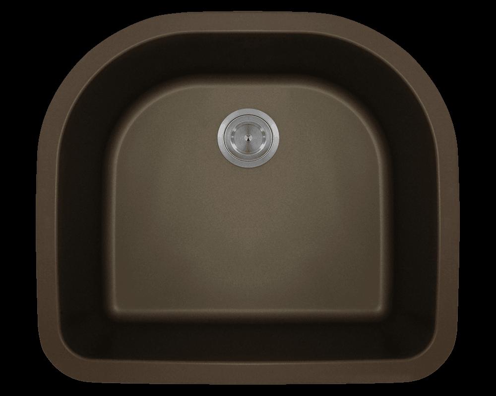 824 Mocha D Bowl Trugranite Sink
