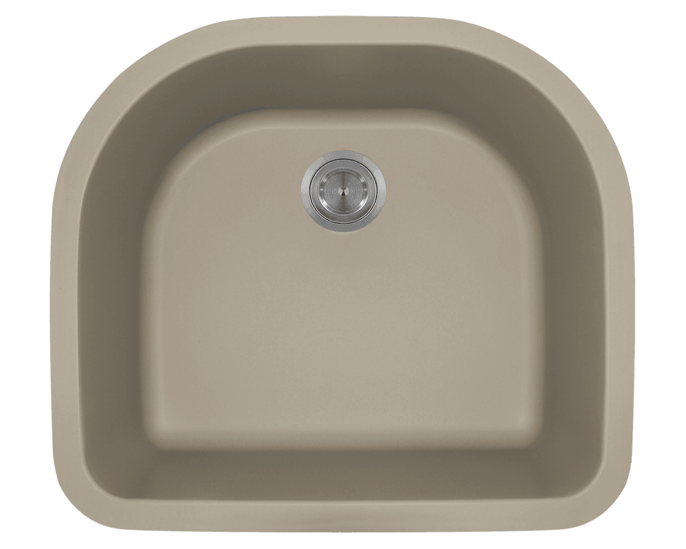 MR Direct 824-Slate D-Bowl Quartz Granite Sink