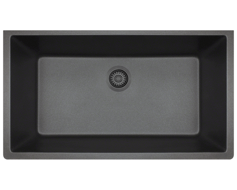 848 Black Single Bowl Undermount Trugranite Sink
