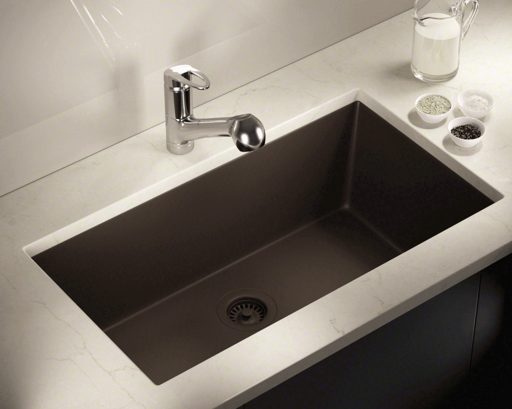 848 Mocha Large Single Bowl Undermount Trugranite Kitchen Sink