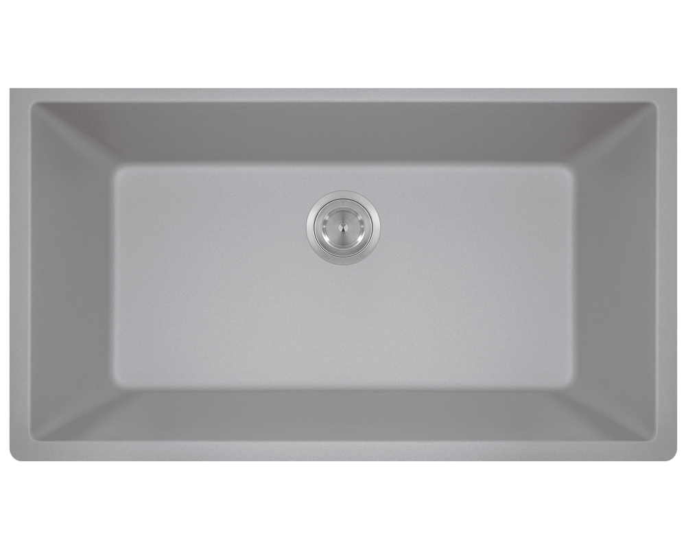 848 Silver Large Single Bowl Undermount Trugranite Kitchen