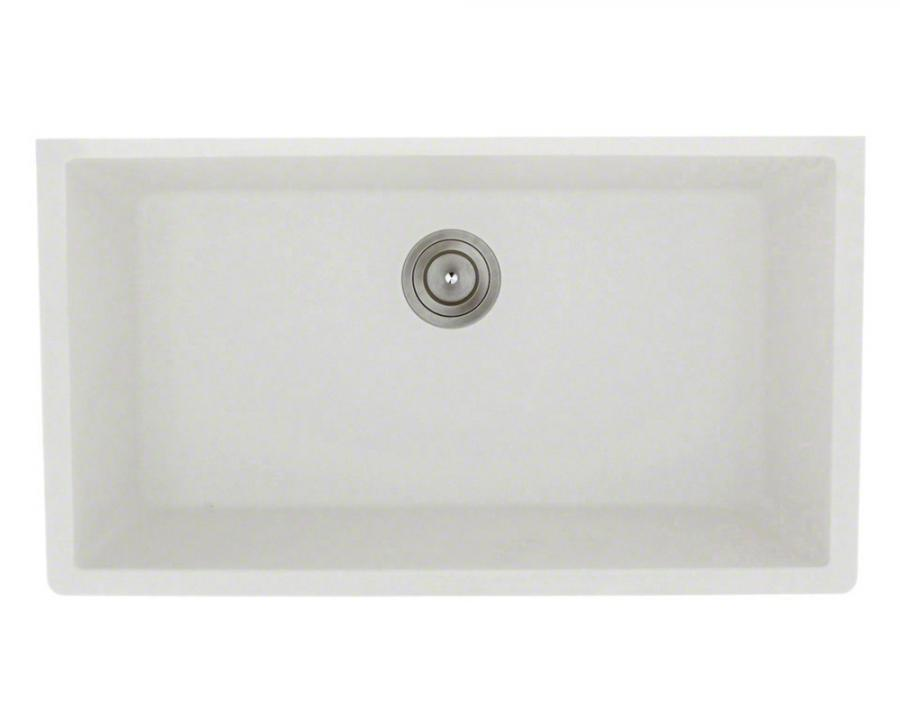 848 White Large Single Bowl Undermount Trugranite Kitchen Sink