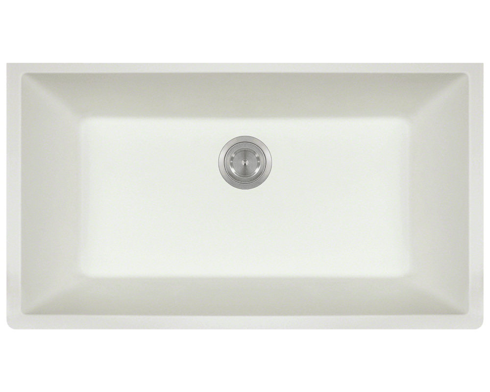 848 white large single bowl undermount trugranite kitchen sink - Bowl Kitchen Sink
