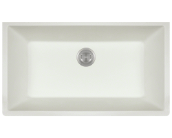 848 White Single Bowl Undermount TruGranite Sink
