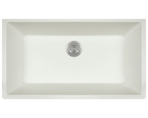 848-White Single Bowl Undermount TruGranite Sink