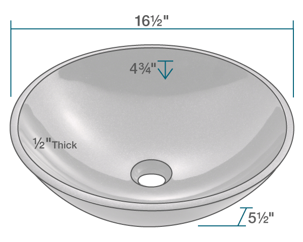 "The dimensions of 850-Black Granite Vessel Sink is 16 1/2"" x 16 1/2"" x 5 1/2"". Its minimum cabinet size is 18""."