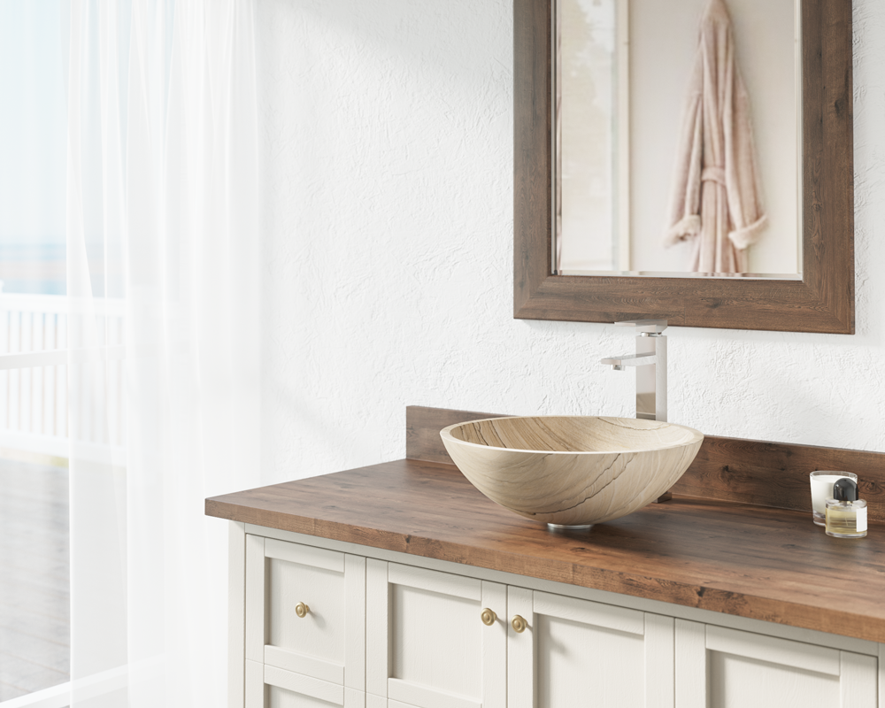 852 Wood Sandstone Vessel Sink