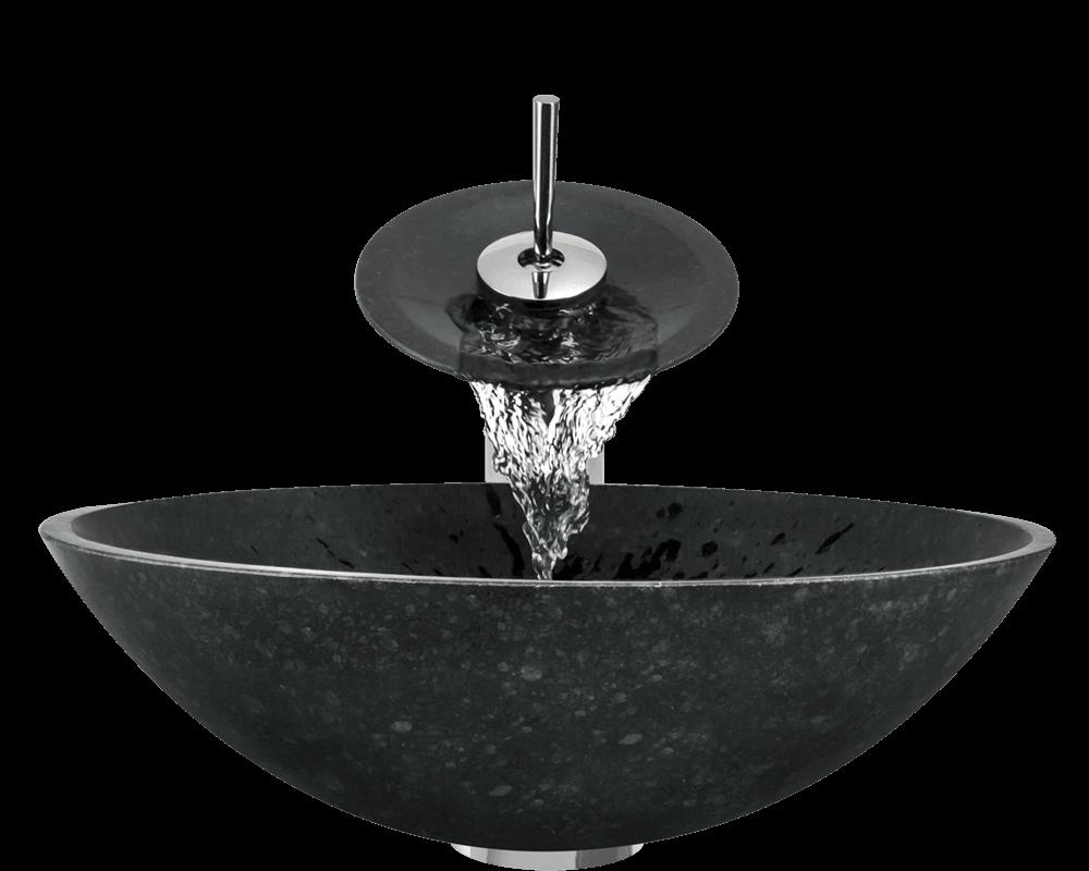 854 Honed Basalt Black Granite Vessel Sink